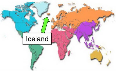 Image gallery iceland on world map iceland on world map 1 20 gumiabroncs