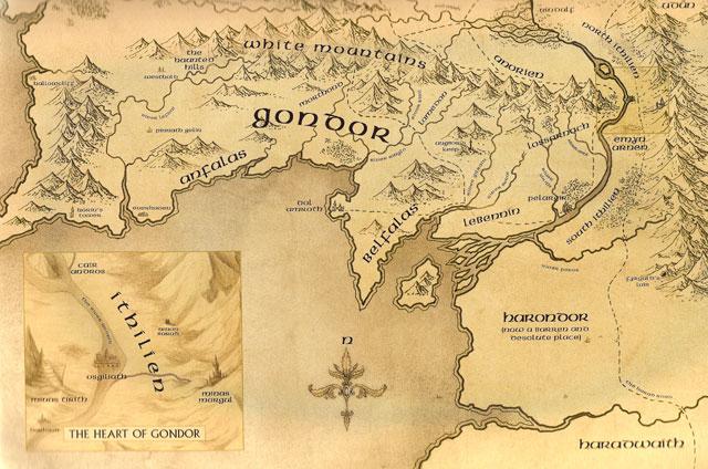 mitologi LOTR - Map_of_Gondor