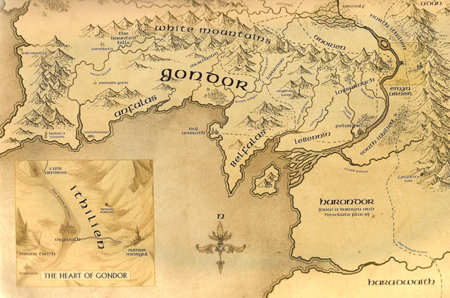 mitologi LOTR - Map_of_Gondor