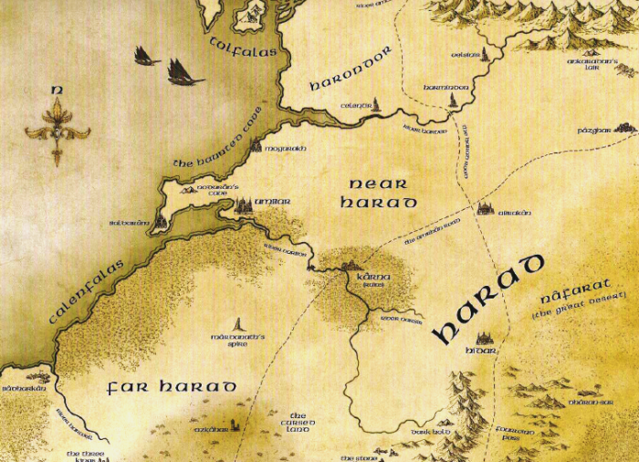 mitologi LOTR - Map_of_Harad