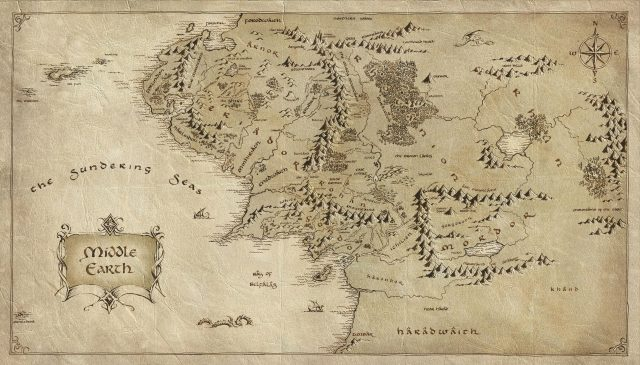 mitologi LOTR - Middle Earth map 2