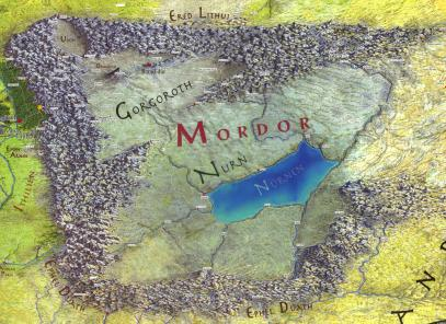 mitologi LOTR - Mordor map