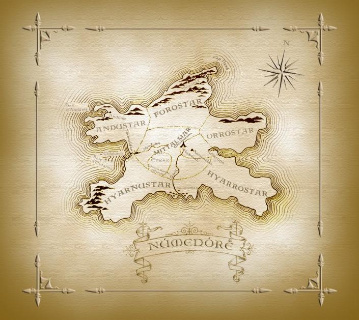mitologi LOTR - Numenore map