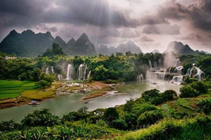 Pemandangan Alam Terindah di Dunia Air Terjun Aliran Air Sungai Cantik