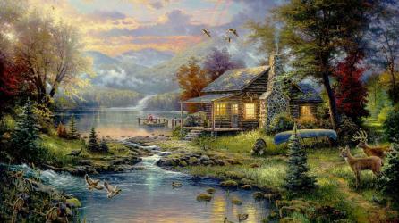 thomas-kincaid-paradise-landscape-painting